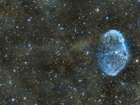 Crescent and Soap Bubble Nebula